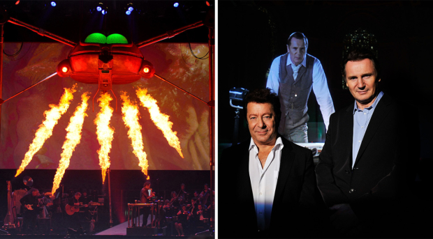 Jeff Wayne and Liam Neeson promoting War of the Worlds