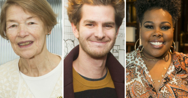Glenda Jackson, Andrew Garfield and Amber Riley