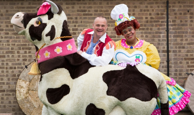 Al Murray and Clive Rowe who will be starring in Wimbledon's panto this year