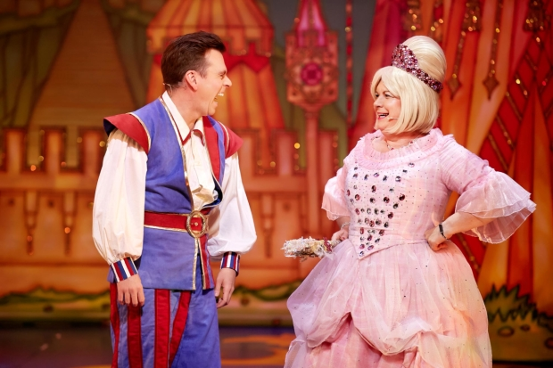 Elaine C Smith and Johnny Mac in Sleeping Beauty