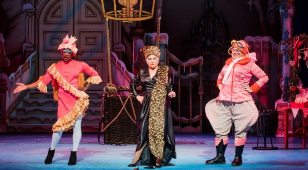 Kat B, Tony Whittle and Susie McKenna in Cinderella