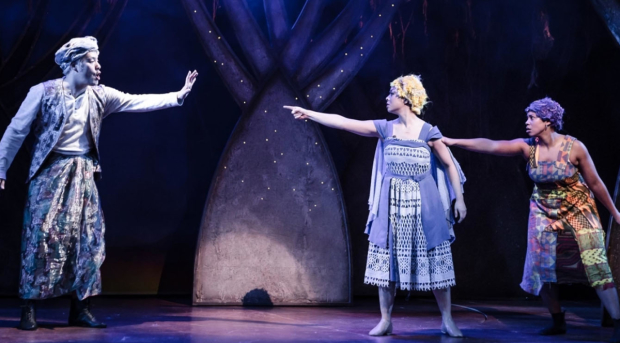 Stephen Hoo, Julie Yammanee and Joanne Sandi in Rapunzel