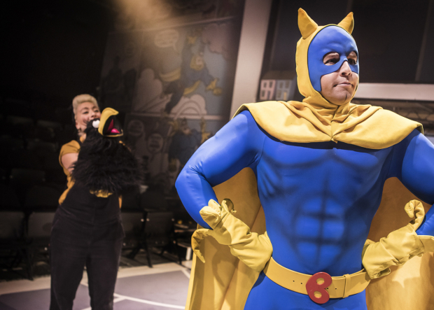 Jodie Jacobs (Crow) and Matthew McKenna (Bananaman)