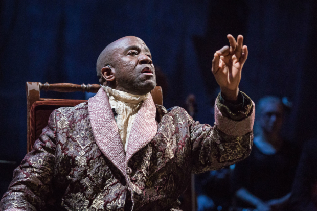 Lucian Msamati as Salieri in Amadeus