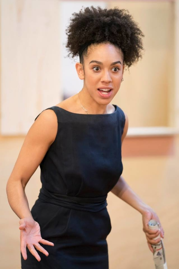Pearl Mackie rehearsing for The Birthday Party