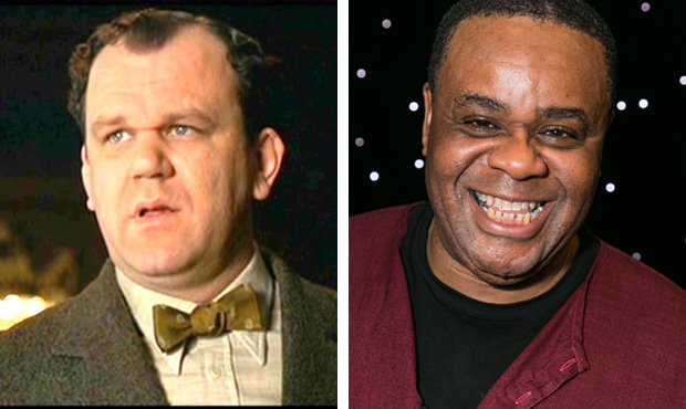 John C Reilly as Amos Hart and Clive Rowe