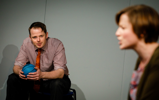 Simon Darwen as Niall and Becci Gemmell as Helen in The Here and This and Now