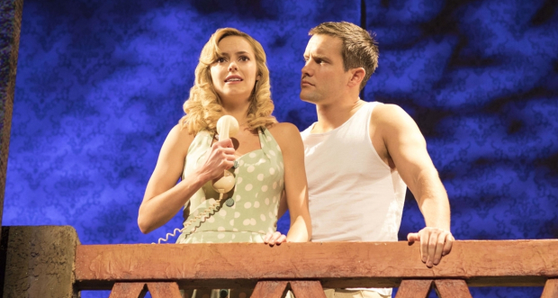 Hannah Tointon and Jack Ashton in Strangers on a Train