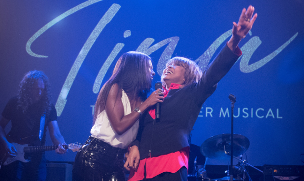 Adrienne Warren and Tina Turner at the Tina launch