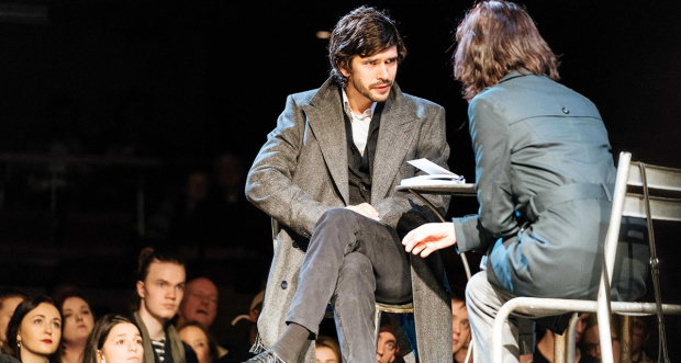 Ben Whishaw and Michelle Fairley in Julius Caesar