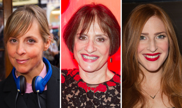 Mel Giedroyc, Patti LuPone and Rosalie Craig