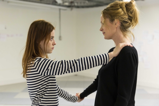 Rosie Day and Natasha Little rehearsing Again