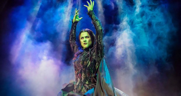 Amy Ross as Elphaba in Wicked UK tour