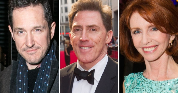 Bertie Carvel, Rob Brydon and Jane Asher