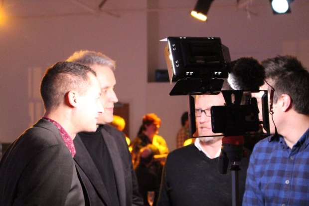 The creators of Tess - The Musical being interviewed by The Break a Leggers