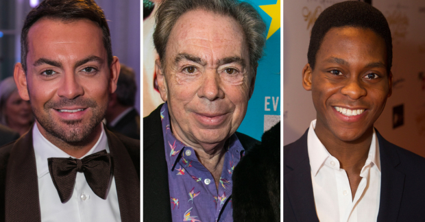 Ben Forster, Andrew Lloyd Webber and Tyrone Huntley