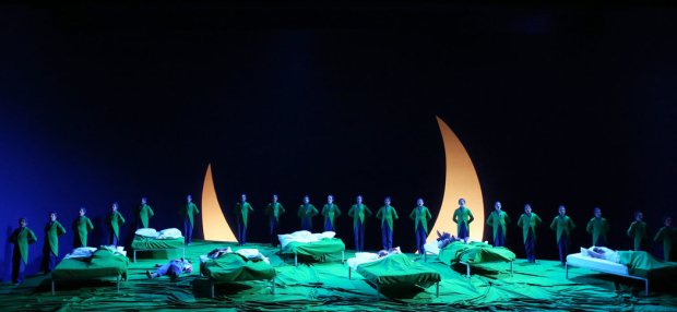 A Midsummer Night's Dream - the close of Act 2. Trinity Boys Choir as the Fairy Chorus (Aix-En-Provence Festival, 2015)