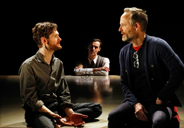 Kyle Soller, Paul Hilton and John Benjamin Hickey  in The Inheritance