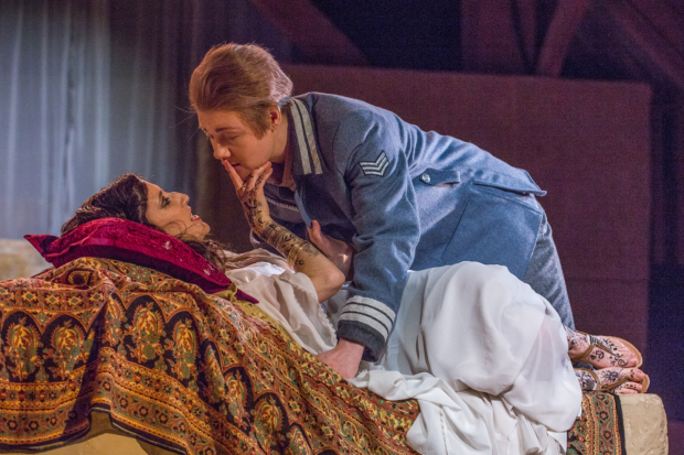 Marie Lys as Cleopatra and Helen Sherman as Giulio Cesare in Giulio Cesare (Bury Court Opera)