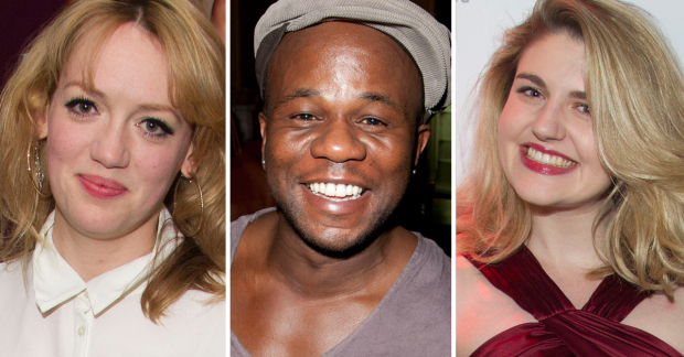 Lucy Briggs-Owen, Delroy Atkinson and Lizzy Connolly