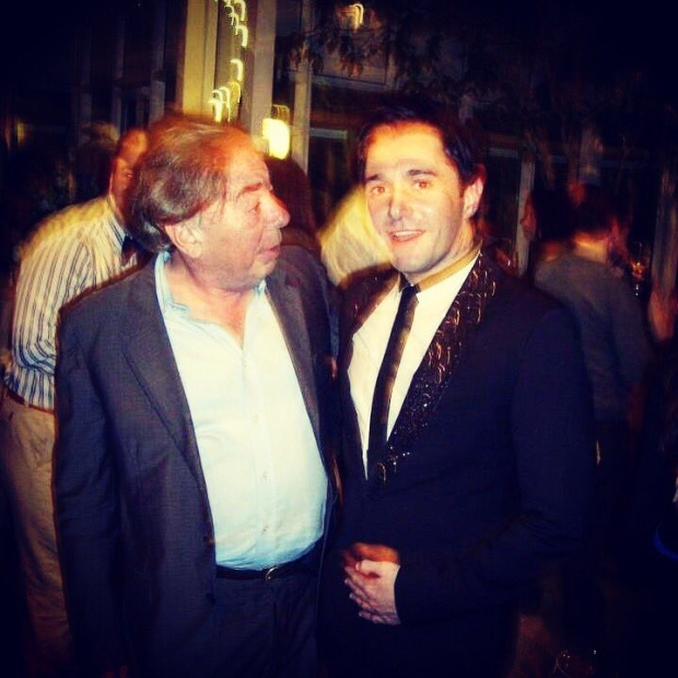 Andrew Lloyd Webber and Kieran Brown at the closing night of Love Never Dies