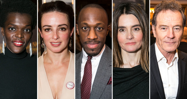 Olivier Award winners Sheila Atim, Laura Donnelly, Giles Terera, Shirley Henderson and Bryan Cranston