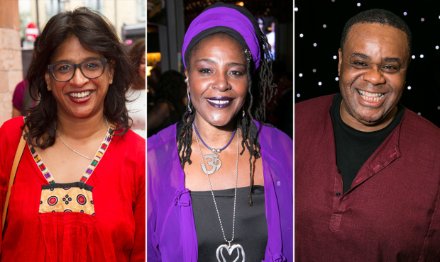 Indhu Rubasingham, Sharon D Clarke and Clive Rowe