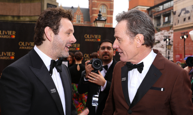 Michael Sheen and Olivier Award-winner Bryan Cranston at the Olivier Awards