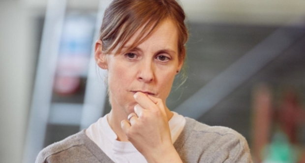 Mel Giedroyc in rehearsals for Much Ado About Nothing