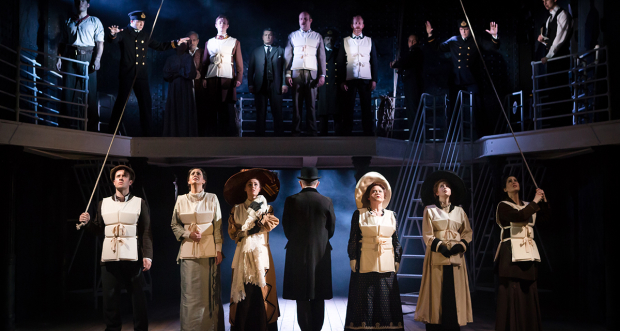 The previous cast of Titanic at the Charing Cross Theatre