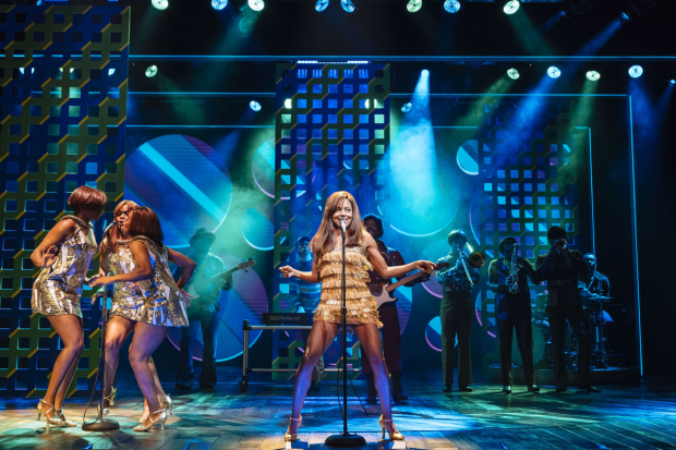 Adrienne Warren (Tina Turner) and the company of Tina the Musical