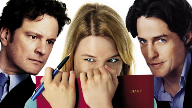 Colin Firth, Renée Zellweger and Hugh Grant in Bridget Jones's Diary