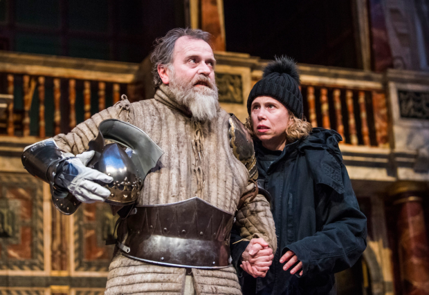 Colin Hurley as the Ghost and Michelle Terry as Hamlet