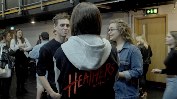 Jamie Muscato and Carrie Hope Fletcher in rehearsals for Heathers