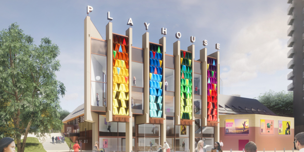 Artist's impression of the new frontage for Leeds Playhouse