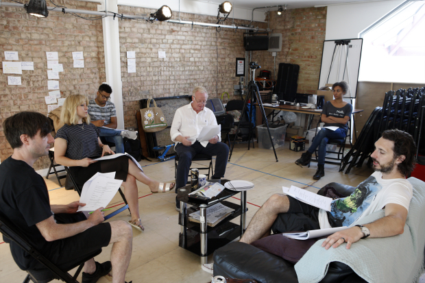The cast of End of the Pier in rehearsals