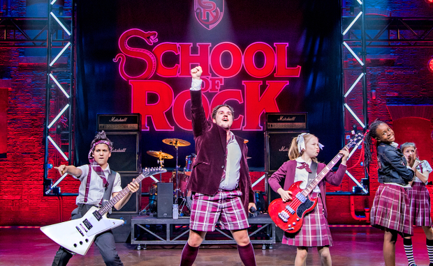 Craig Gallivan and the cast of School of Rock