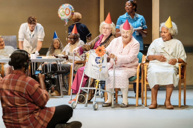 Foreground left to right: Nadine Higgin (Cliff), Gwen Taylor (Lucille), Patricia England (Mavis), Cleo Sylvestre (Cora)