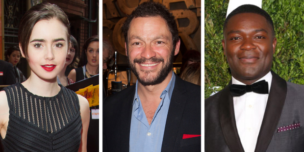 Lily Collins, Dominic West and David Oyelowo
