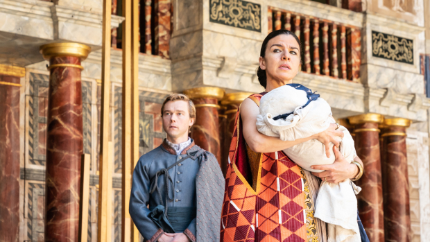 Jordan Metcalfe and Sirine Saba in The Winter's Tale