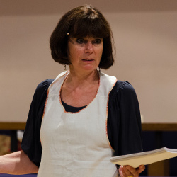 Julia Hills in rehearsal for Springs Eternal