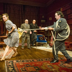 Lydia Wilson, Antony Sher, David Horovitch and Adrian Schiller in Hysteria