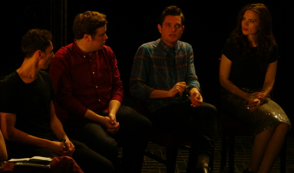 Al Weaver, Edward Stambollouian, Mathew Horne and Hayley Atwell at the Q&A