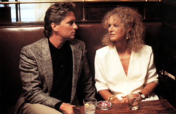 Michael Douglas and Glenn Close in the 1987 film