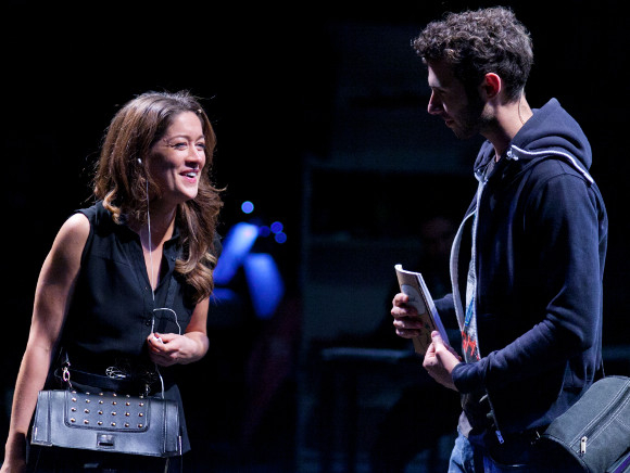 Julie Atherton (Carrie) and Andy Coxon (Oliver) in Another Way