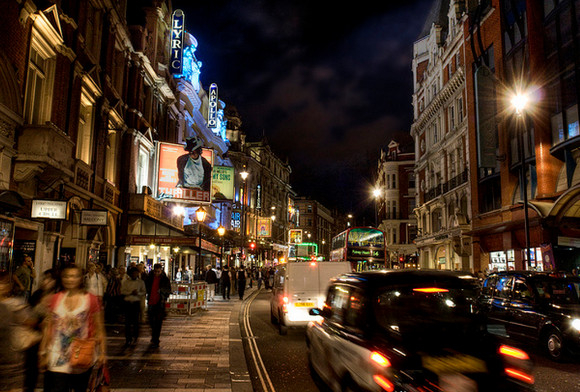 Shaftesbury Avenue in London's West End