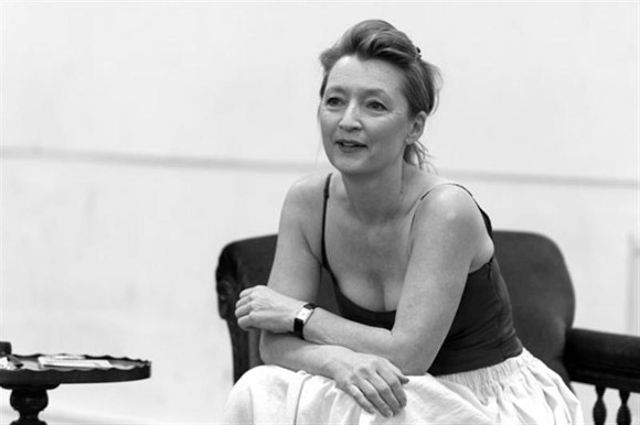 Lesley Manville in rehearsal for Ghosts