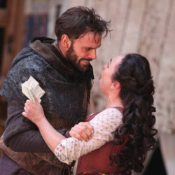 Millson with Samantha Spiro as Lady Macbeth