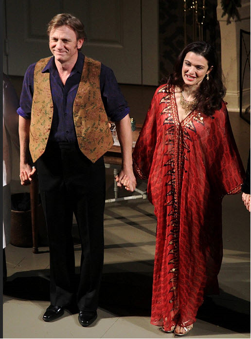 Daniel Craig and Rachel Weisz at the curtain call on Betrayal's first night