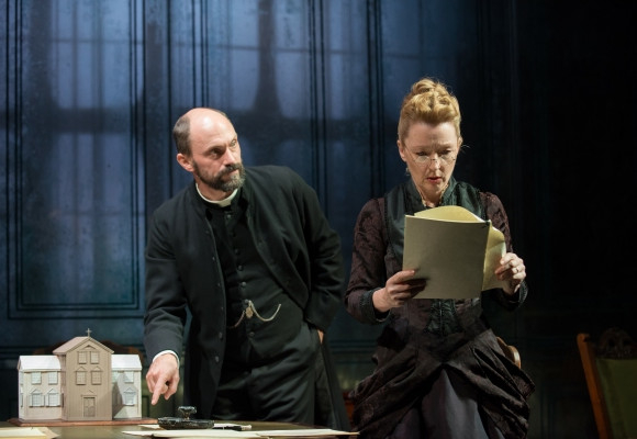 Will Keen (Pastor Manders) and Lesley Manville (Helene Alving)
